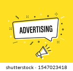 male hand holding megaphone... | Shutterstock .eps vector #1547023418