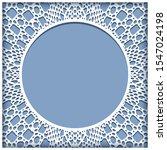 ornamental frame with crochet... | Shutterstock . vector #1547024198