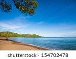 Tropical Trees By The Beach In...
