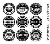 premium vintage badge design set | Shutterstock .eps vector #1547069405