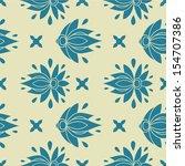 floral seamless pattern.... | Shutterstock . vector #154707386
