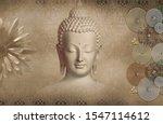 Buddha Golden Flower With...