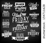 black friday calligraphic... | Shutterstock .eps vector #154711628