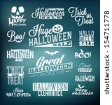 halloween calligraphic designs  ... | Shutterstock .eps vector #154711778
