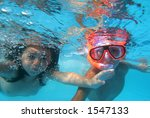 children swimming  in pool | Shutterstock . vector #1547133