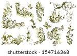 vintage olive design elements | Shutterstock .eps vector #154716368