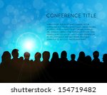 conference template... | Shutterstock .eps vector #154719482