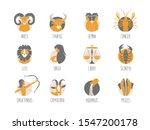 zodiac signs set original...   Shutterstock .eps vector #1547200178