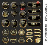 gold and black badges retro... | Shutterstock . vector #1547208578