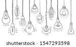 bulbs of different types hand...   Shutterstock . vector #1547293598