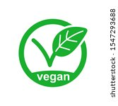 vegan icon product vector image.... | Shutterstock .eps vector #1547293688