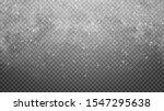 falling snow on transparent... | Shutterstock .eps vector #1547295638