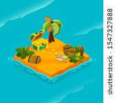 isometric tropical island with... | Shutterstock .eps vector #1547327888