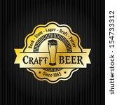 retro styled label of beer.... | Shutterstock .eps vector #154733312