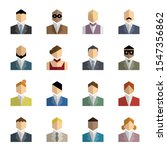ordinary people icon vector set.... | Shutterstock .eps vector #1547356862