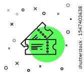 black line cinema ticket icon... | Shutterstock .eps vector #1547403638