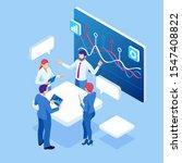 isometric business data... | Shutterstock . vector #1547408822