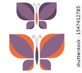 Two Retro Purple Geometric...