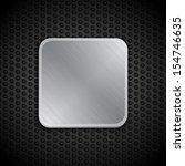 brushed metallic border on a... | Shutterstock .eps vector #154746635