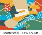 abstract doodle background.... | Shutterstock .eps vector #1547472635