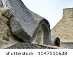 Thatch Roofs Over House In...