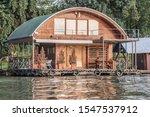 Summer Floating Raft Cabin On...