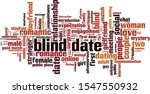 Blind Date Word Cloud Concept....