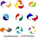 design wave logo element.... | Shutterstock .eps vector #154755266