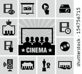 movies icon | Shutterstock .eps vector #154756715