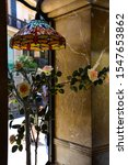 Beautiful  Color Glass Lamp And ...