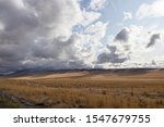Mesa And Ranch Grasslands With...
