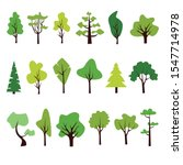 flat forest tree icon. pine ... | Shutterstock .eps vector #1547714978