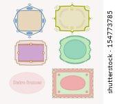 nice retro frames | Shutterstock .eps vector #154773785