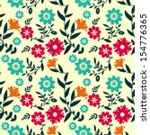 floral pattern with... | Shutterstock .eps vector #154776365
