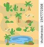 desert pack. desert set. cactus ...   Shutterstock .eps vector #1547772308