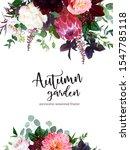 Luxury Fall Flowers Vector...