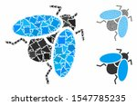 fly insect mosaic of raggy... | Shutterstock .eps vector #1547785235