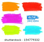 vibrant colors vector felt pen... | Shutterstock .eps vector #154779332