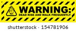 zombie warning | Shutterstock .eps vector #154781906