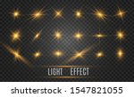 set of bright beautiful stars. ... | Shutterstock .eps vector #1547821055