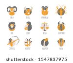 zodiac signs set original... | Shutterstock .eps vector #1547837975