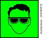 sign of protective glasses. eye ... | Shutterstock . vector #154784972