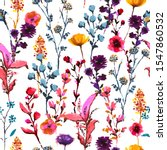 stylish colorful blooming many... | Shutterstock .eps vector #1547860532