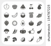 fruits and vegetables icons... | Shutterstock .eps vector #154787225