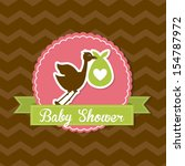baby shower design over brown... | Shutterstock .eps vector #154787972