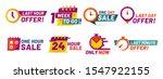 sale countdown badges. last... | Shutterstock . vector #1547922155