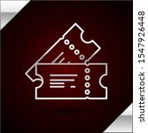 silver line cinema ticket icon... | Shutterstock .eps vector #1547926448