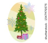 new year card with christmas...   Shutterstock .eps vector #1547970575