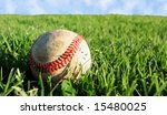 vector baseball on grass  also... | Shutterstock .eps vector #15480025