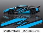 car decal wrap design vector.... | Shutterstock .eps vector #1548038648